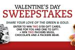 Packers Valentines Day Sweepstakes - Win Gift Card