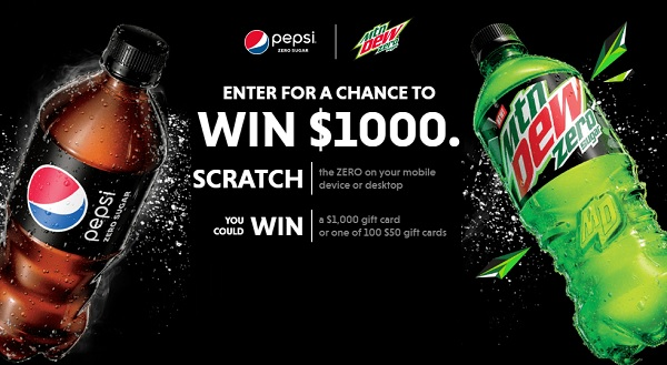 Pepsi Drink Up Cash In Instant Win Game - Win Gift Card