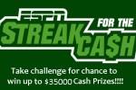 ESPN.com Streak For the Cash Challenge Contest - Win Cash Prizes
