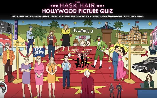 Hask Hollywood Picture Quiz Contest - Win Cash Prizes