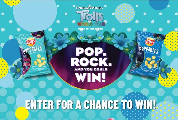 Lays Poppables Dreamworks Trolls World Tour Sweepstakes