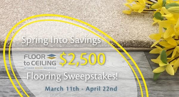 Spring Into Savings Flooring Sweepstakes