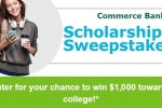 Commerce Bank Scholarship Sweepstakes 2020