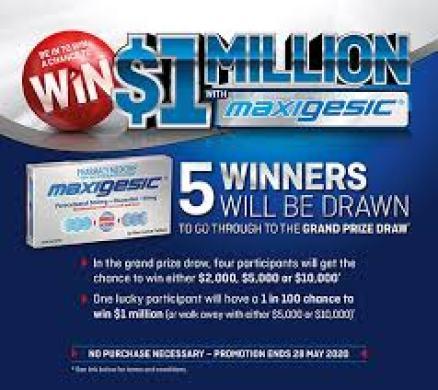 Chemist Warehouse Maxigesic Contest