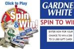 Gardner White Spin & Win Instant Win Game