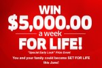 PCH.com $5000 A Week For Life Giveaway