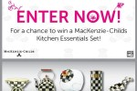 Mackenzie Childs Kitchen Essentials Sweepstakes