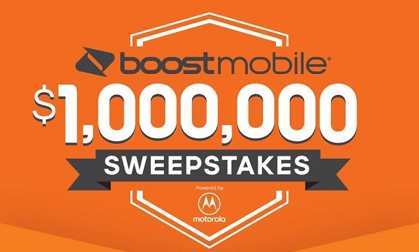 Boostmobile.com Million Dollar Sweepstakes