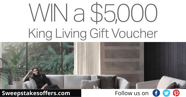 King Living Anniversary Contest