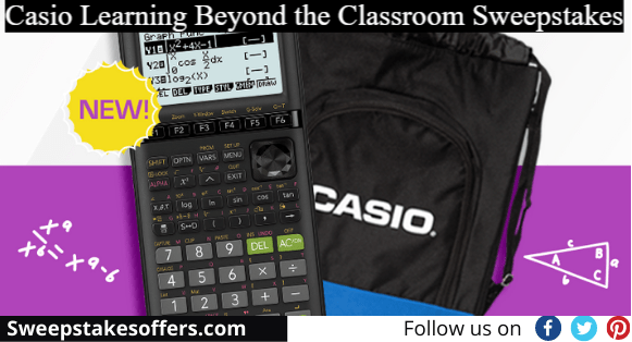 Casio Learning Beyond the Classroom Sweepstakes