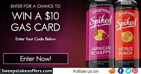 Spiked Gas Card Instant Win Sweepstakes