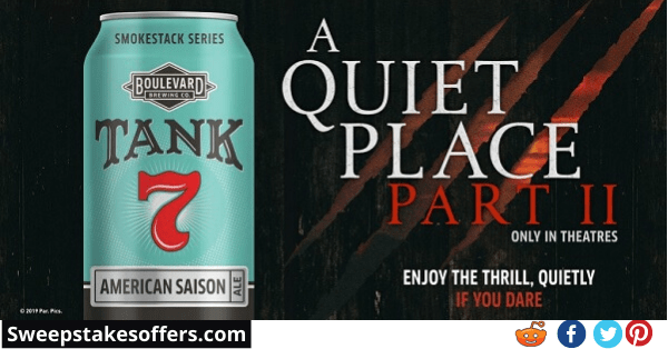 Boulevard Brewing a Quiet Place II Sweepstakes