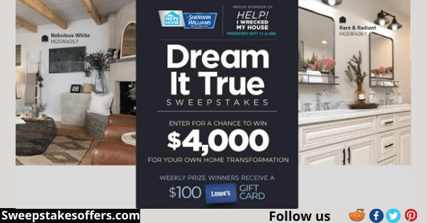 Hgtv Dream It True Sweepstakes
