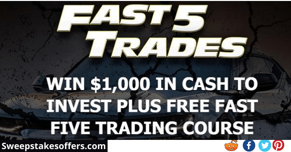 Fast Five Trading $1000 Cash Giveaway