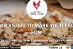 Chicken Farmers of Canada Fall Cash Sweepstakes