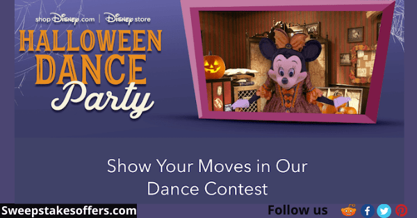 Disney Store Halloween Dance Party Contest