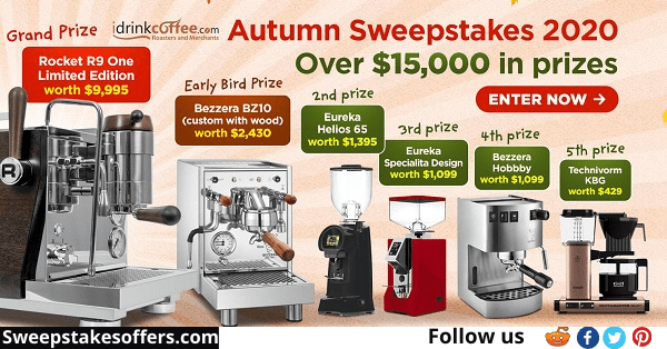 iDrinkcoffee Annual Autumn Sweepstakes