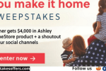 AshleyFurniture You Make It Home Sweepstakes