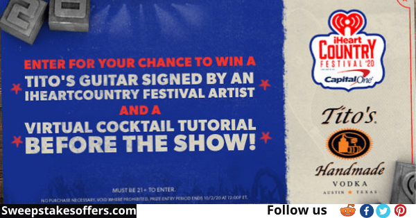 Titos iHeartCountry Festival Guitar Sweepstakes