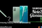 Samsung Galaxy Note20 Giveaway