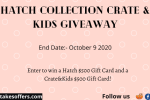 Hatch x Crate&kids Giveaway