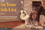 Sweetwater Win Your Wish List Music Giveaway