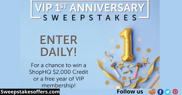 ShopHQ VIP 1st Anniversary Sweepstakes