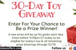 Red Tricycle 30 Day Toy Giveaway