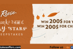 Reese Thank Our Lucky Stars Sweepstakes