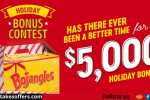 Bojangles Holiday Bonus Contest