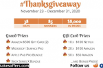 Jamie M Timbre Thanksgiving Giveaway