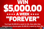 PCH $5000 A Week For Life Giveaway