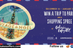 Explore France Christmas Voyage to Paris Contest