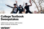 Verizon Spring 2021 College Textbook Sweepstakes