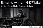 Harley-Davidson Visa Free Ride Sweepstakes