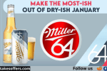 Miller64 Dry-ish January Instant Win Game