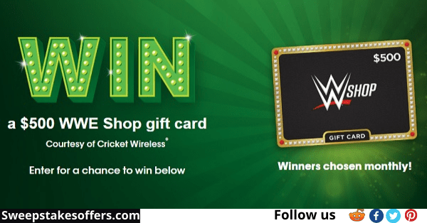 Cricket Wireless WWE Shop Gift Card Sweepstakes