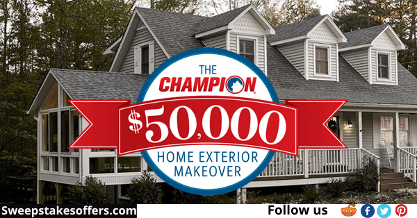 Champion Windows $50000 Home Exteriors Makeover Giveaway