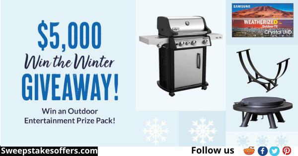 BBQGuys $5K Win the Winter Giveaway
