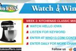 Hello Iowa Watch & Win Giveaway