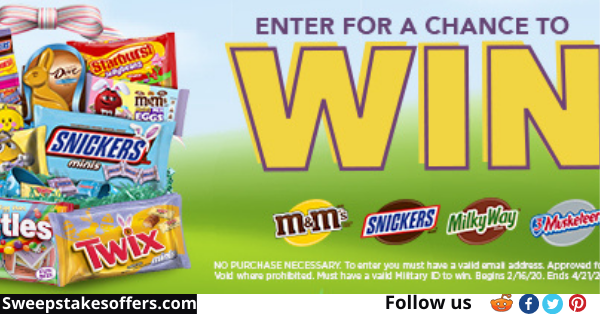 2021 Mars Easter Military Sweepstakes