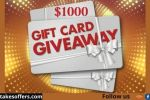 American Red Cross $1000 Gift Card Giveaway