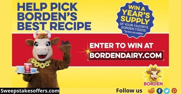 Borden Dairy Best Recipe Sweepstakes