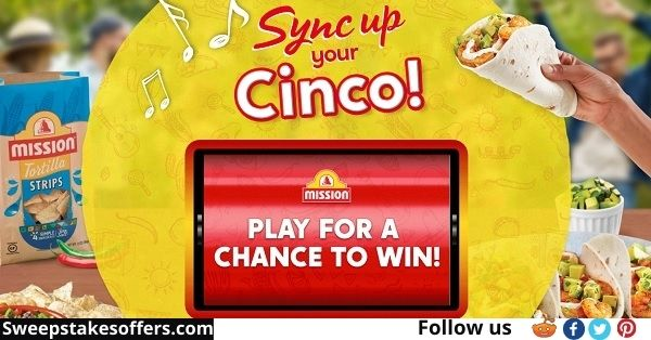 Mission Foods Sync Your Cinco Instant Win Game