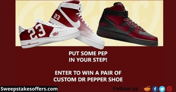 Dr Pepper Shoe Sweepstakes