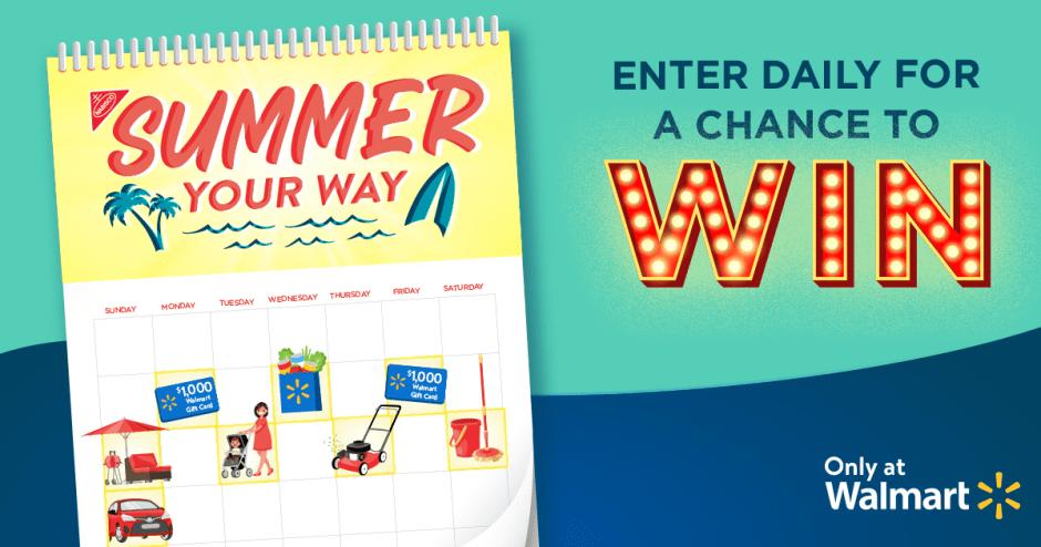 Walmart Summer Your Way Sweepstakes