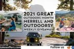 Great Outdoors Month Merrell and Outdoorsy Weekly Giveaway