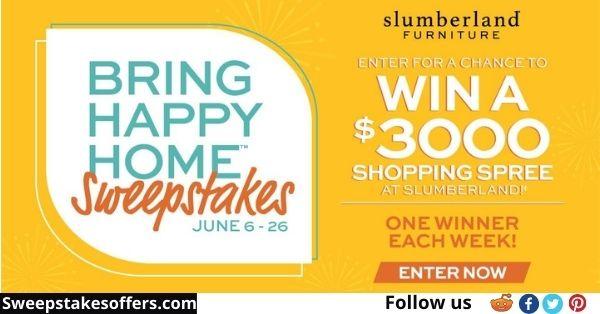 Slumberland Furniture Bring Happy Home Sweepstakes