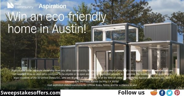 Aspiration Sustainable Smart Home Sweepstakes