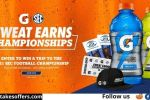Gatorade Sweat Earns Championships Instant Win Game